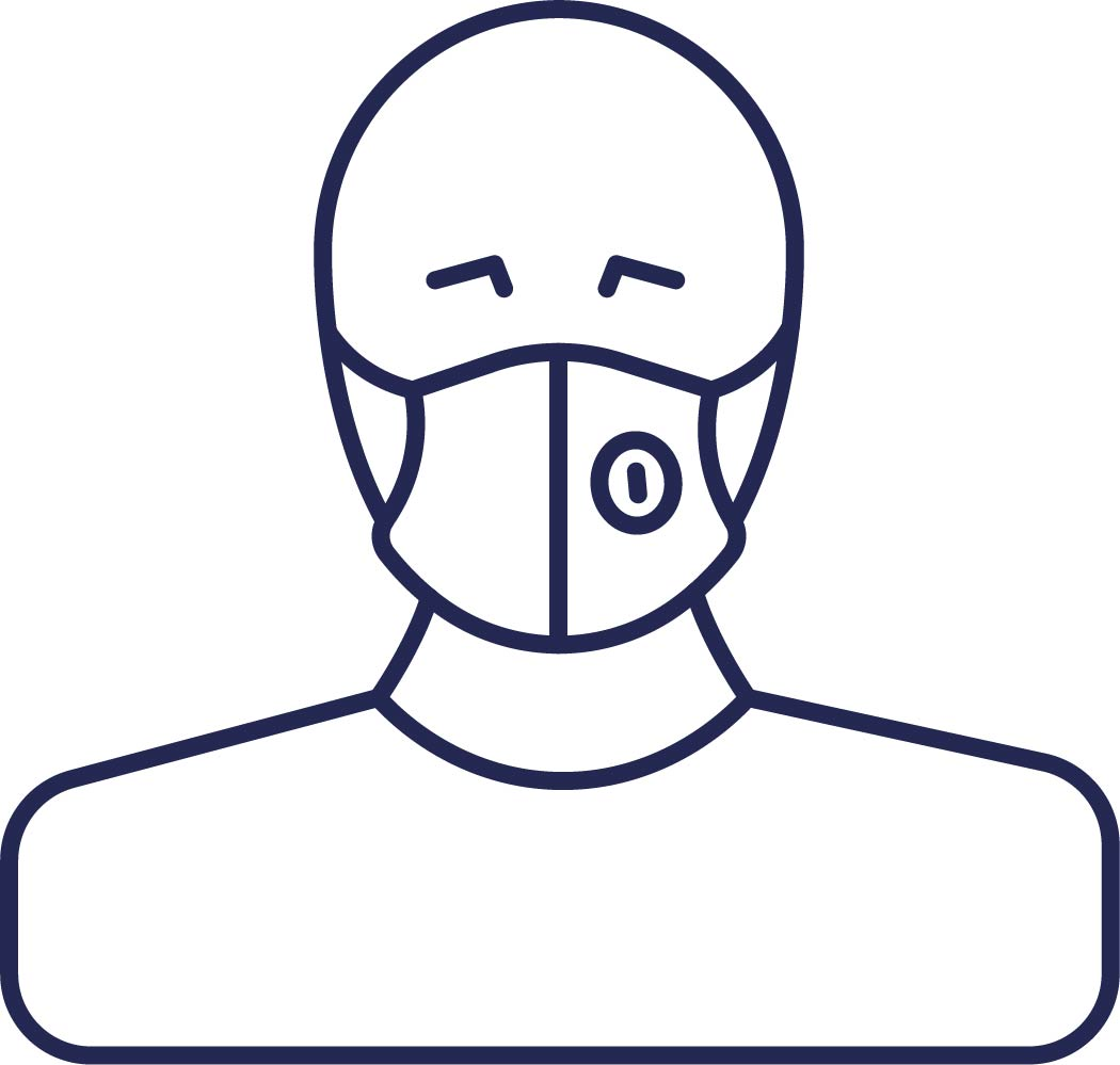 Person with mask icon